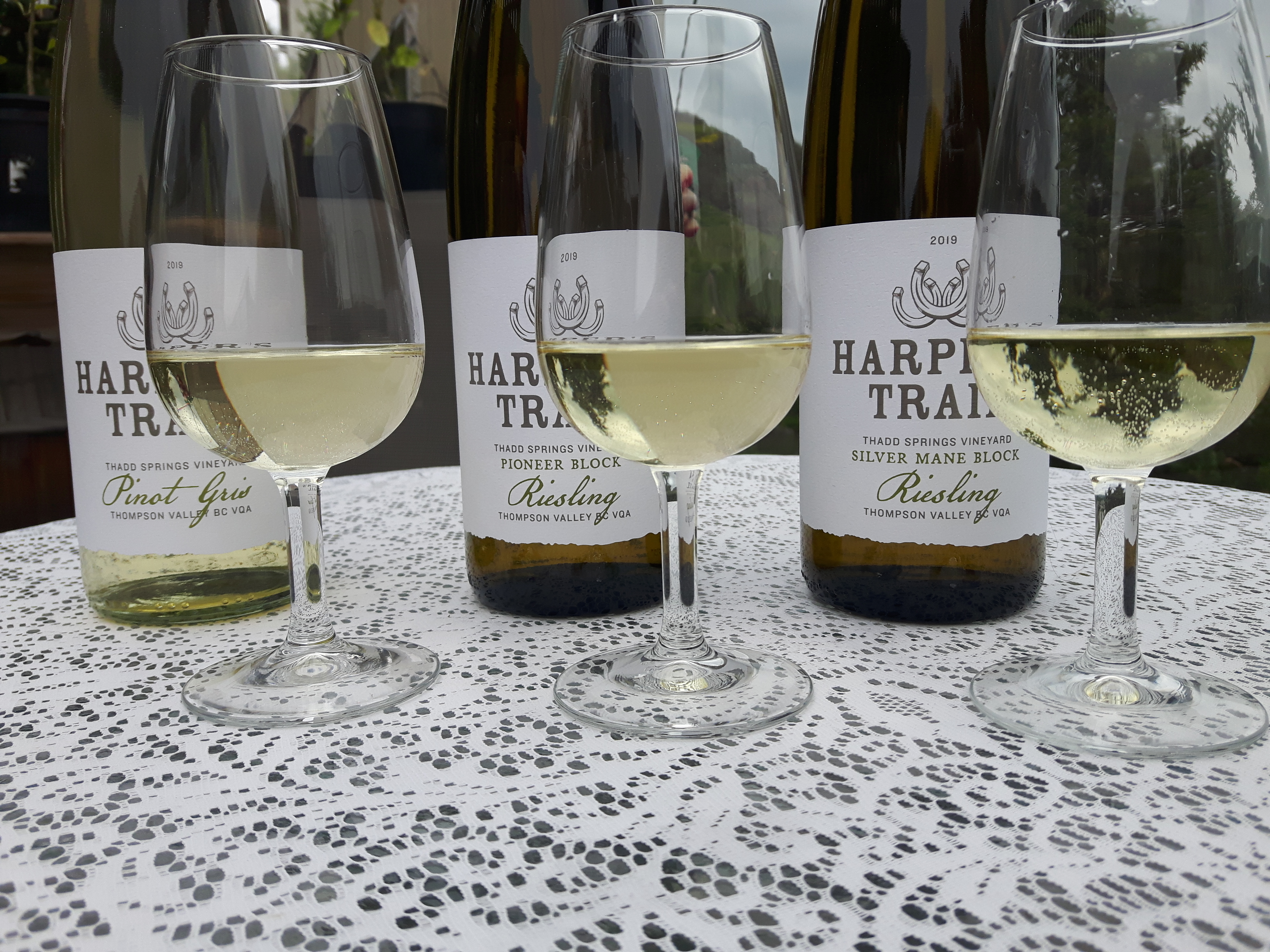 Harpers Trail perfect trio with poured ISO glasse July 2020
