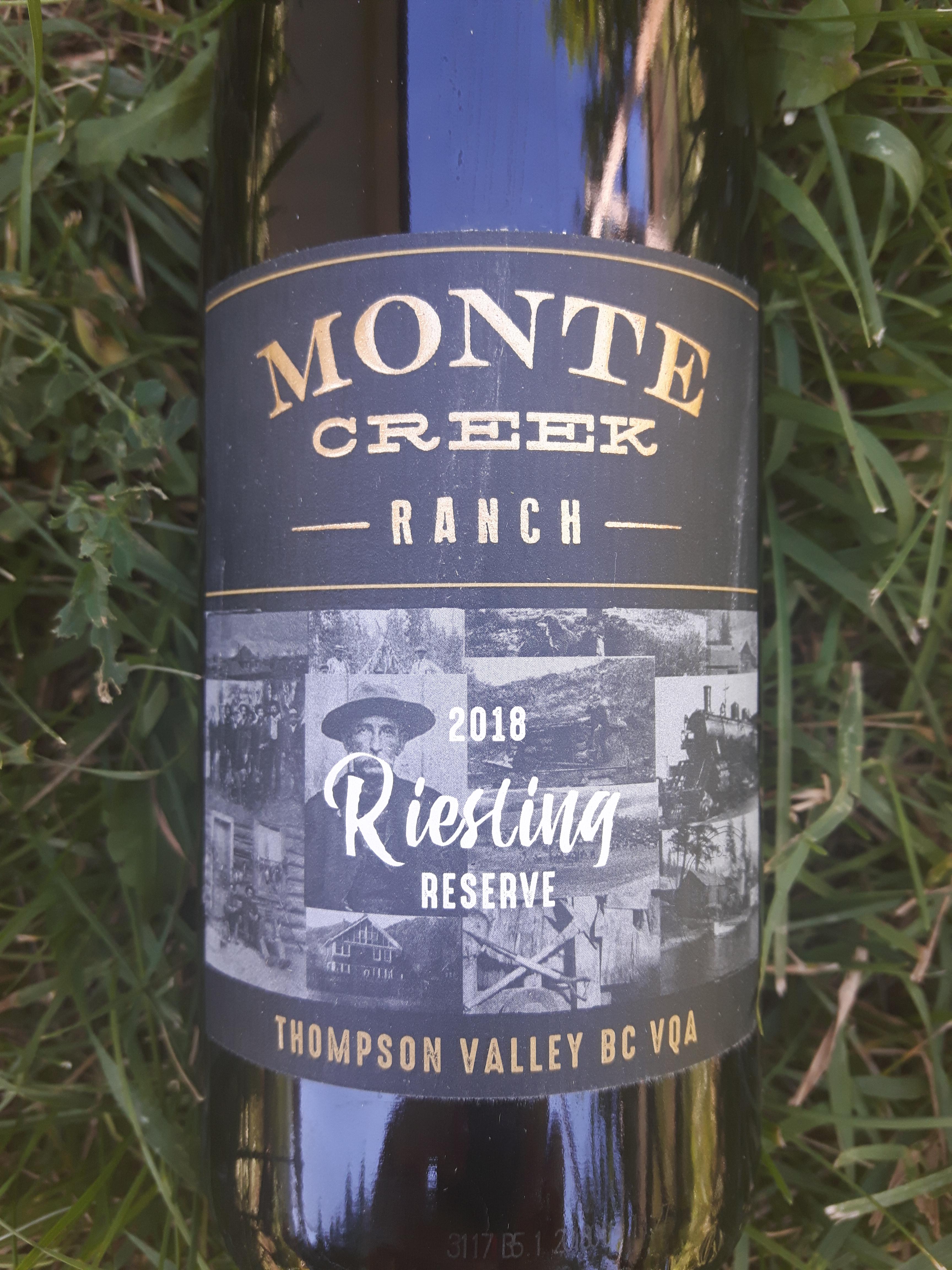 Monte Creek 2018 Reserve Riesling Best Wine Wine 2020 ACWC